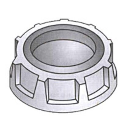 """Capped Bushing, Threaded, 3"""", Non-Insulated, Malleable Iron"""