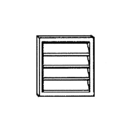"""Plastic Louvered Wall Cap For 6"""" Duct. White."""
