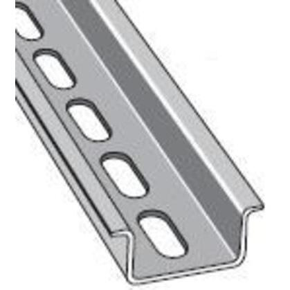 DIN Rail, Slotted, Zinc Plated Steel, 35mm x 15mm x 2m