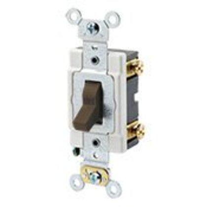 Heavy Duty Single-Pole Switch, 20A, 120/277V, Brown, Industrial Grade