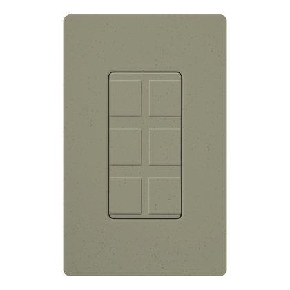Wallplate Insert, 6-Port, Multimedia, Greenbriar