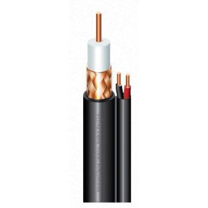 SIAMESE CM RG59 20AWG 95% BRAID SHIELD COAX + 18AWG 2C STR UNSHLD BLACK JACKET-1000'RL
