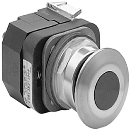 Push Button, Push-Pull, Red, 30mm, Mushroom Head, 24V AC/DC