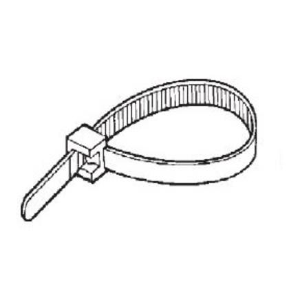 """Cable Tie, Miniature, Nylon, Natural Color, 4"""" Long, 100/PK"""