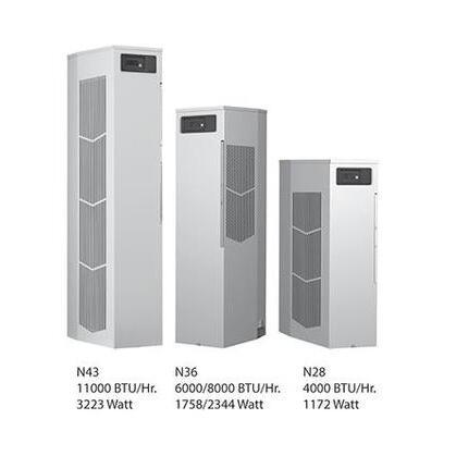 Air Conditioner For Enclosure, Narrow, Indoor, BTU: 4000, 230V