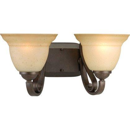 Bath Light, 2-Light, 100W, Forged Bronze