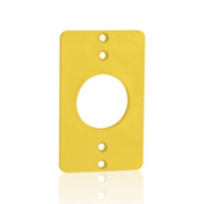 Single Receptacle Coverplate, Yellow