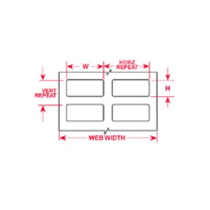 Label,THT,B473,1.25x.25,Wt,10000RL,29906