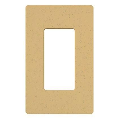 Dimmer/Fan Control Wallplate, 1-Gang, Goldstone