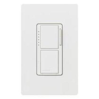 Incandescent/Halogen Dual Dimmer and Switch, Ivory