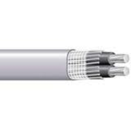 Service Entrance Cable, SEU, CU, 6/2, 8 AWG Ground, Copper, Cut to Length
