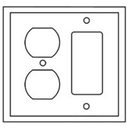 WALLPLATE 2G DUP/DECO COMBO POLY MID WH