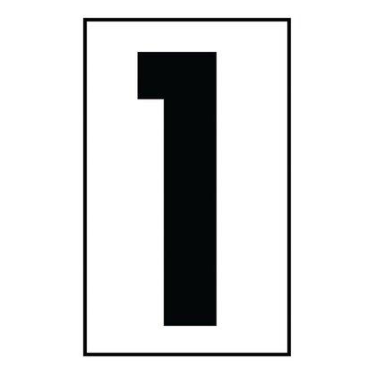 """Address Light Number Tile, #1, White Plastic, 5"""""""