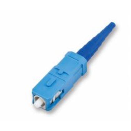 Connector, Singlemode, Pre-Polished, Fiber Optic, SC, Blue