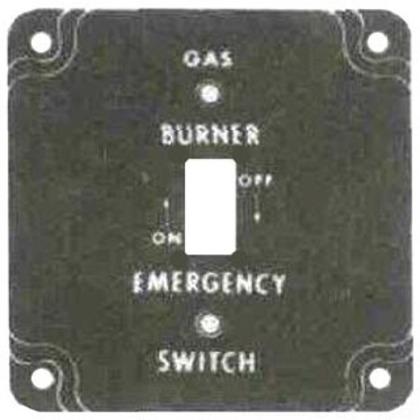 "4"" SQ. GAS BURNER COVER"