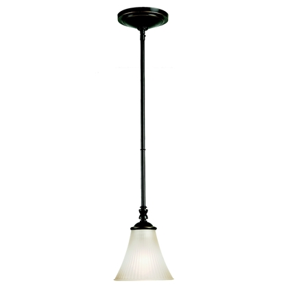 Mini-Pendant Light, 1 Light, 100W, Heirloom Bronze