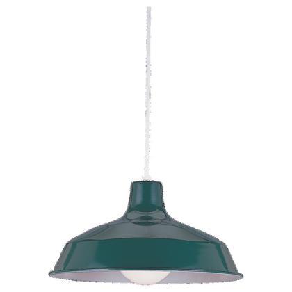 1-Light Pendant, 150W, G40, 120V, Emerald Green