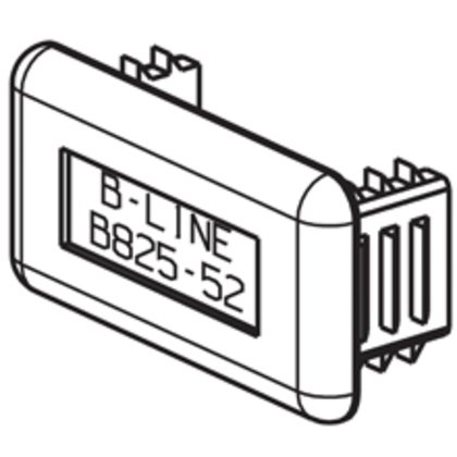 Plastic End Cap, Gray, For B22 & B24 Series Channel