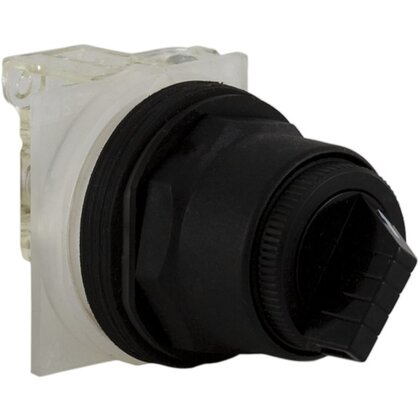 Selector Switch, 2-Position, Black, Maintained, 1NO/NC Contact