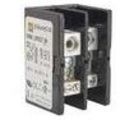 "Power Block Cover, Screw-On, .045"" Thick, Non-Metallic, Black, 3P"