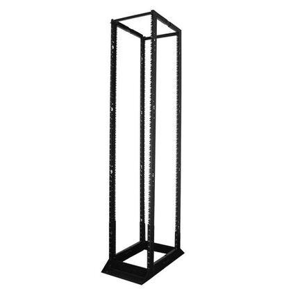 """Rack, Floor Mount, 45RMU, 84"""" H x 21"""" W x 14"""" D, 14AWG Steel, Black"""