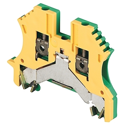Terminal Block, Grounding, 22 - 12AWG, Green/Yellow, 2.5mm