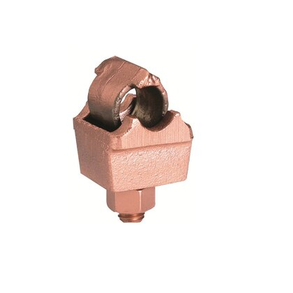 Ground Plate Connector, 6 AWG - 250 MCM, Direct Burial Rated