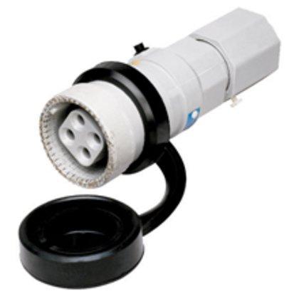 Pin & Sleeve Plug, Weatherproof, Aluminum, 30A, 3-Wire, 4-Pole