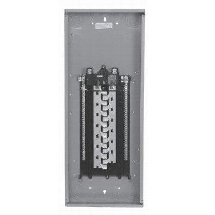 Panel Board, 100A, Main Breaker, 12/24 Circuit, 1PH, 100kAIC, NEMA 1
