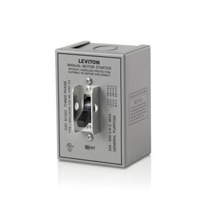 Manual Motor Switch 30A 600VAC, Standard Toggle, 3P, NEMA 1