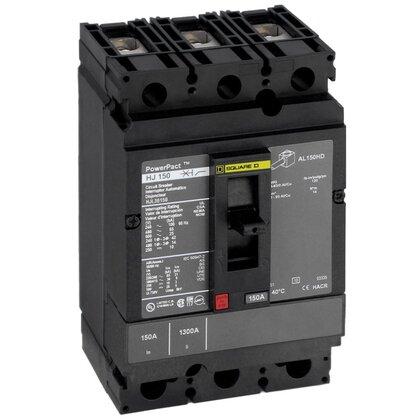 Breaker, Molded Case, 150A, 3P, 600VAC, 25-14kAIC, PowerPact