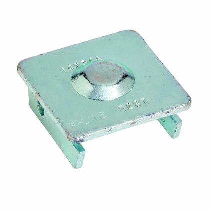 CHANNEL END CAP, FOR 1 5/8-IN. X 1 5/8-IN. B22 CHANNEL, ZINC PLAT
