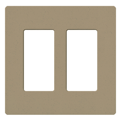 Dimmer/Fan Control Wallplate, 2-Gang, Satin Series, Mocha Stone