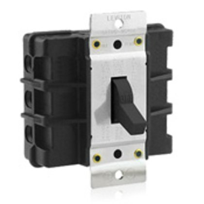Manual Motor Switch, 60A, 600VAC, Short Toggle Style, 3P, Black