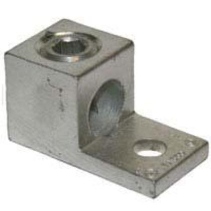 "Mechanical Lug, 1-Hole, Aluminum, (1) 4 AWG - 500 MCM CU/AL, 3/8"" Stud Size"