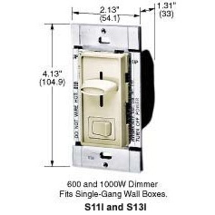 DIMMER 3 WAY SLIDE 1000W WH *** Discontinued ***