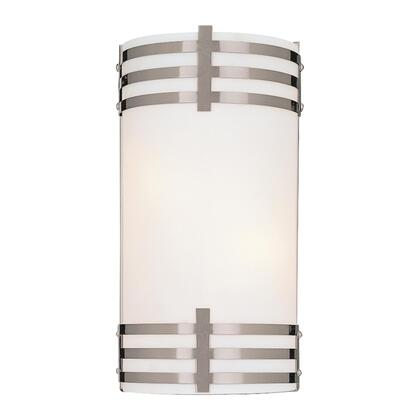 WALL SCONCE BRUSHED NICKEL 2-13W SPIRAL