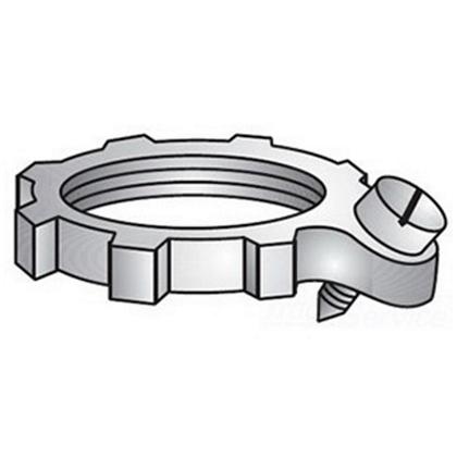 Bonding Locknut, 4 Inch, Steel
