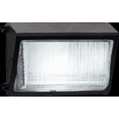 WALLPACK 150W MH PSQT HPF GLASS LENS PUL