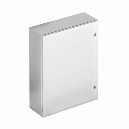TYPE 4X STAINLESS STEEL SINGLE-SOLID DOOR ENCLOSURE, 20X20X8