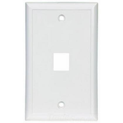 Wallplate 1 Port Modular MidSize WH 4654855
