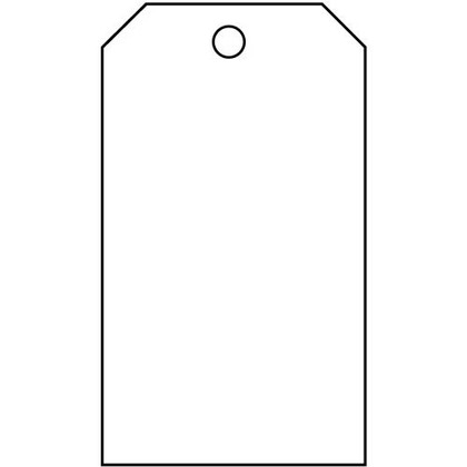 Blank Accident Prevention Tag