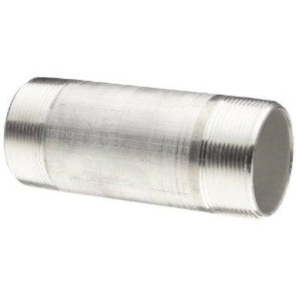 """Rigid Nipple, Size: 4"""" x 8"""", Threaded, Material: Aluminum"""