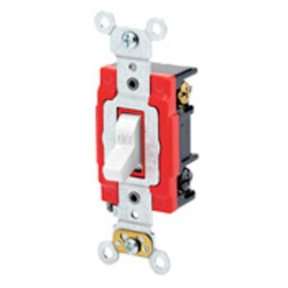 Heavy Duty 3-Way Toggle Switch, 20A, 120/277V, Red, Industrial