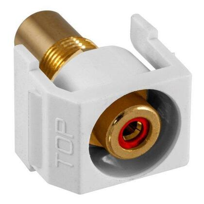 SNAP-FIT RD RCA/RCA RECESSED WH