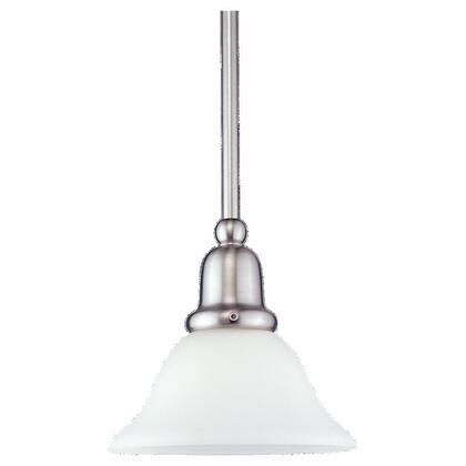 Mini-Pendant, 1-Light, 100W, Brushed Nickel