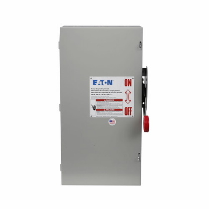 Safety Switch, 100A, 2P, 240V/250DC, HD Fusible, NEMA 1
