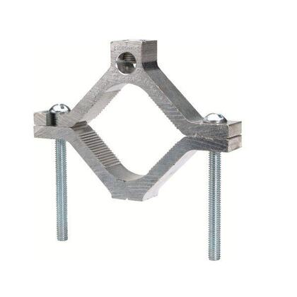 Bare Ground Clamp / Water Pipe, 14 to 1/0 AWG, Aluminum Alloy