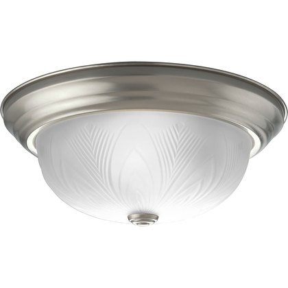 Close to Ceiling Light, 2 Light, 60W, Brushed Nickel *** Discontinued ***