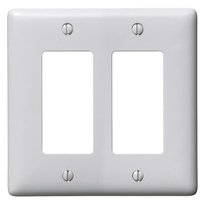 WALLPLATE, 2-G, 2) RECT, OW
